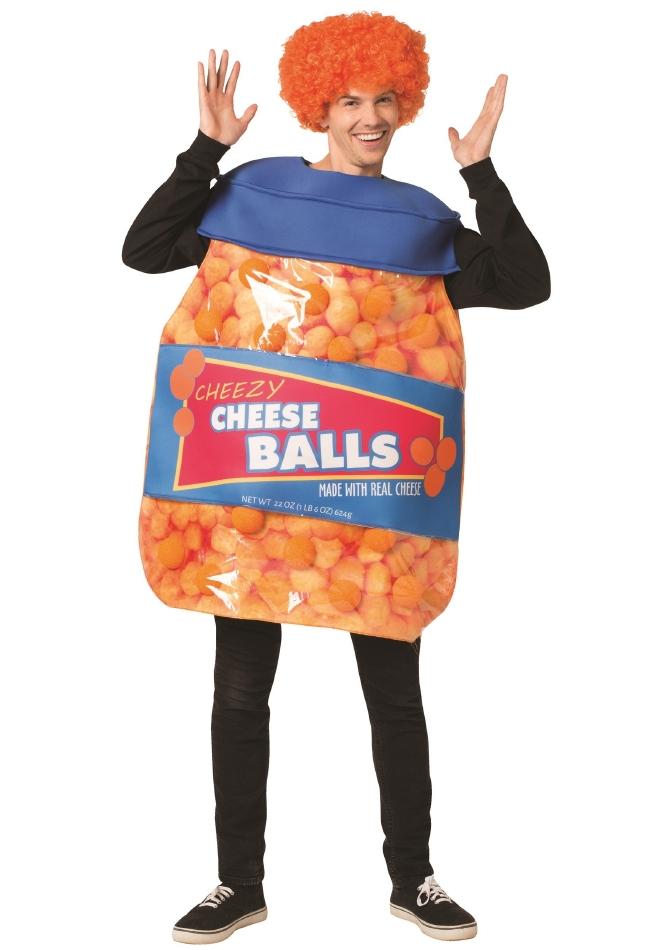 チーズボール 大人用 ハロウィン コスチューム チュニック 大人男性