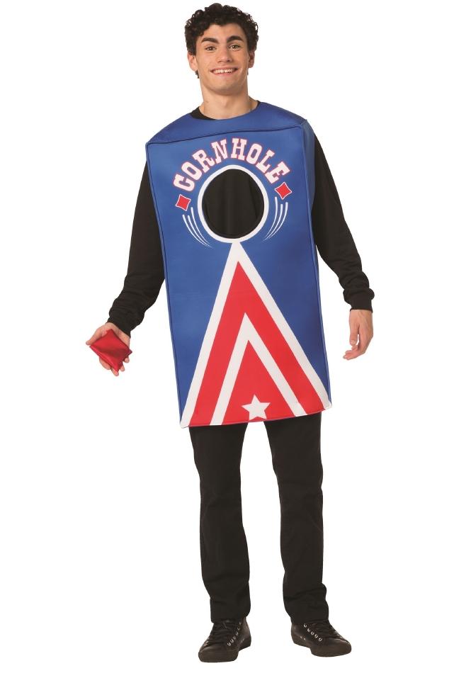 コーンホール 大人用 ハロウィン コスチューム チュニック 2点セット 大人男性