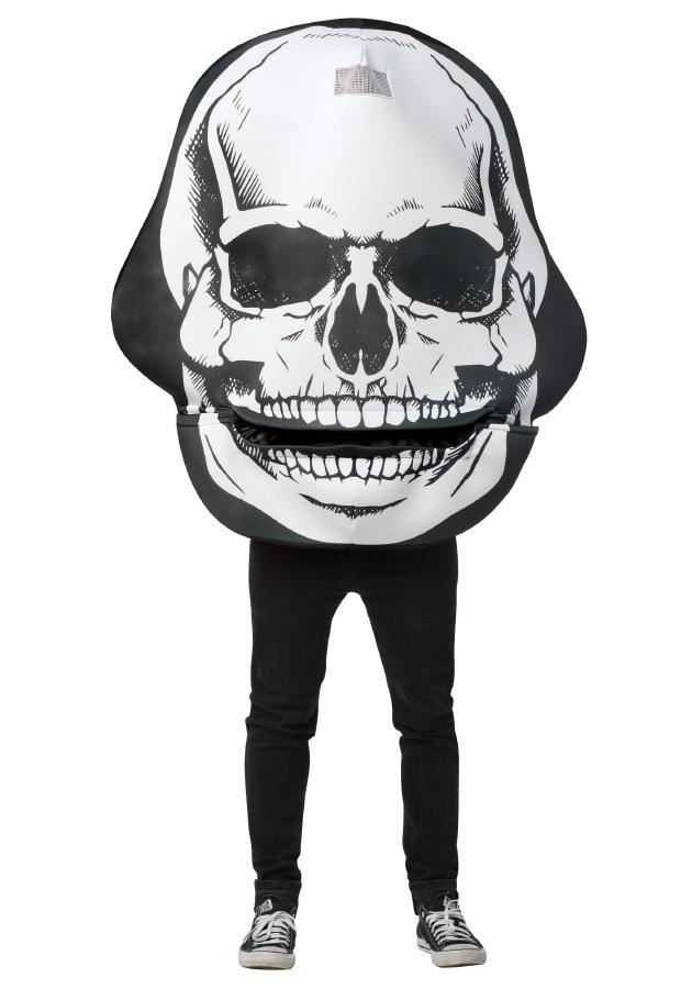 スカルマウスヘッド アダルトコスチューム オモシロ お笑い 男性用 コスプレ衣装 (二次会、仮装、パーティー、ハロウィン)大人男性用