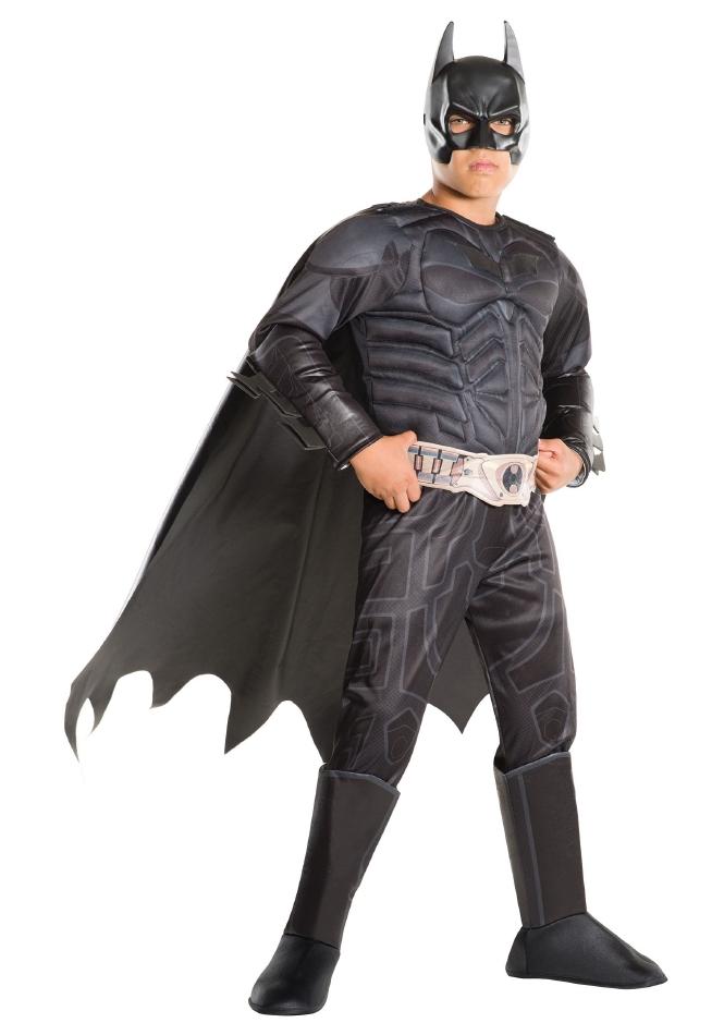 バットマン ダークナイト デラックスキッズ用 ハロウィン コスチューム 仮装 4点セット 子供用 男の子