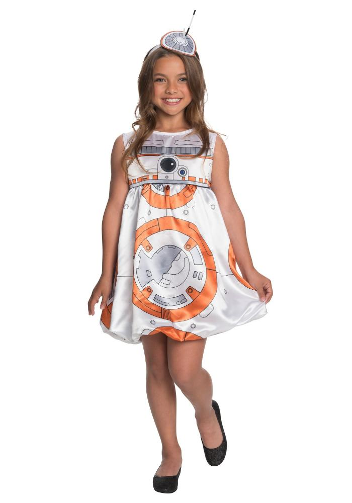 BB-8 ガールズドレス コスチューム 2点セット 子供用 コスプレ衣装 (仮装、ハロウィン)