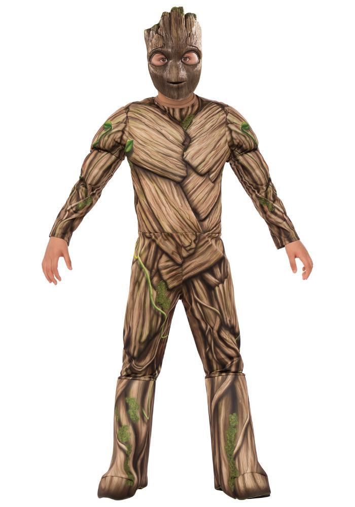 ボーイズ デラックス グルートコスチューム 2点セット 子供用 コスプレ衣装 (仮装、ハロウィン)