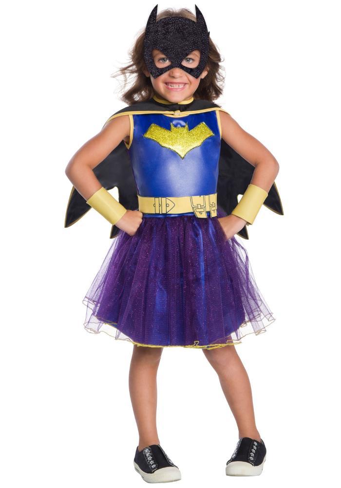 デラックス バットガール トドラーガールズコスチューム 5点セット 子供用 コスプレ衣装 (仮装、ハロウィン)