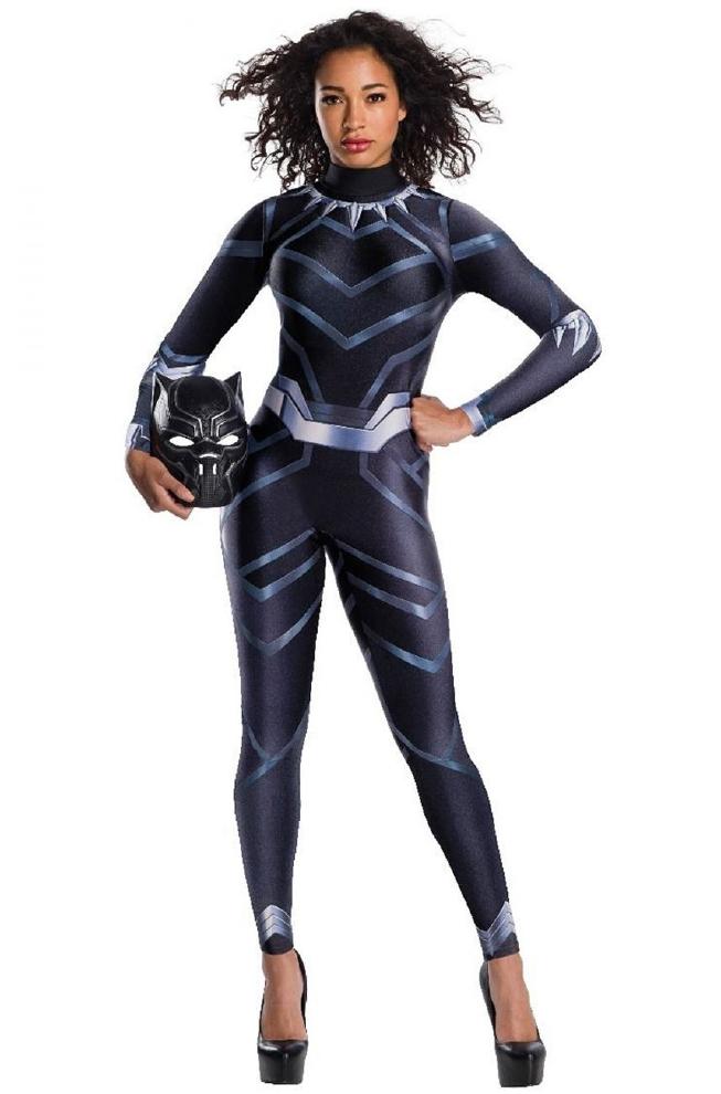 ブラックパンサー レディース用コスチューム 2点セットコスプレ衣装 かわいい (二次会、結婚式、仮装、パーティー、宴会、ハロウィン) 大人女性