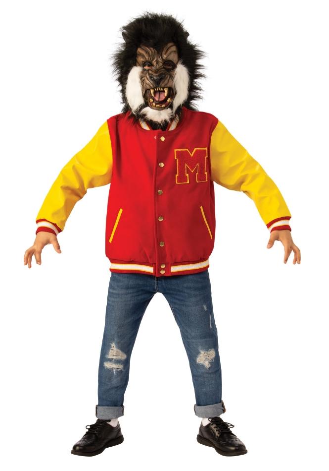 マイケルジャクソン スリラー 狼男 ワーウルフ デラックス キッズ用 ハロウィン コスチューム 仮装 2点セット 子供用 男の子