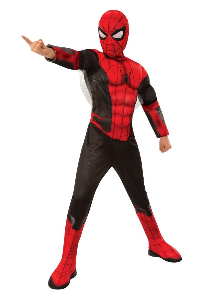 スパイダーマン ファーフロムホーム キッズ用 レッド&ブラック ハロウィン コスチューム 仮装 2点セット 子供用 男の子