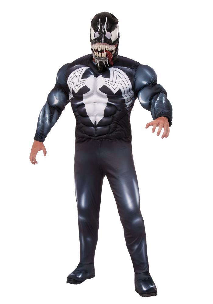 デラックス ヴェノム メンズコスチューム 2点セット 男性用 コスプレ衣装 (二次会、仮装、パーティー、ハロウィン)大人男性用