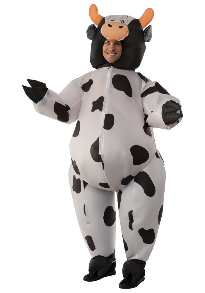 インフレータブル カウ アダルトコスチューム 2点セット 男性用 コスプレ衣装 (二次会、仮装、パーティー、ハロウィン)大人男性用