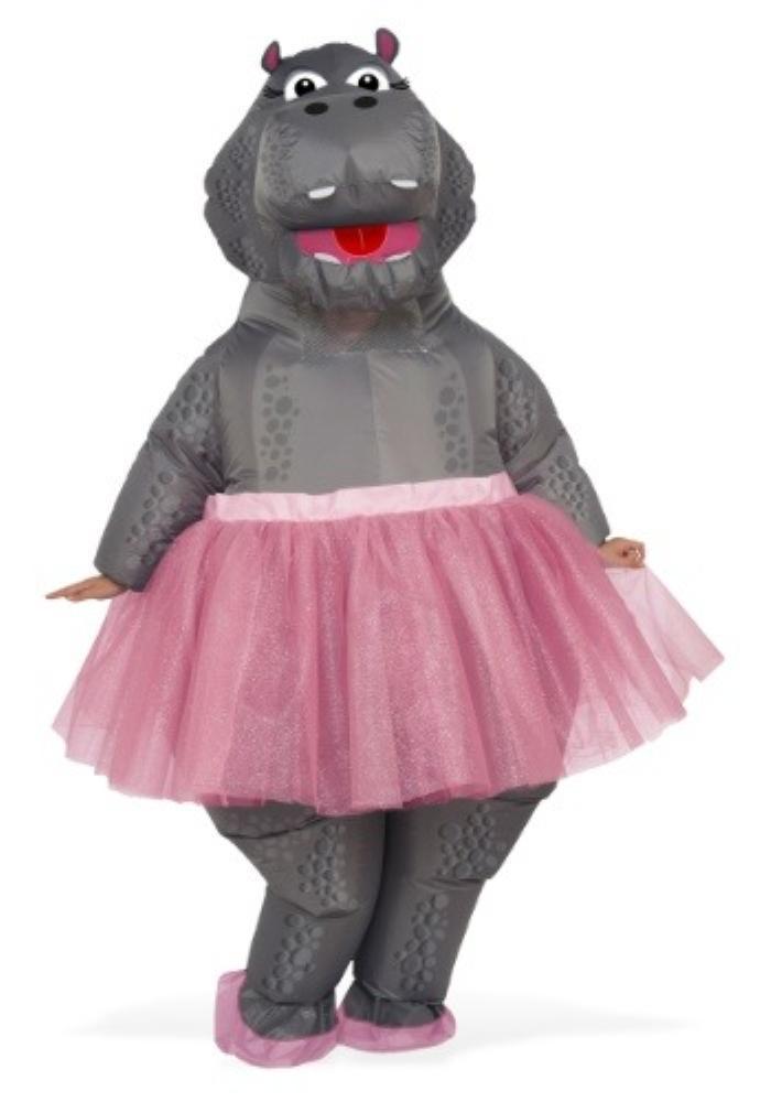 インフレータブル ヒッポ コスチューム アダルト2点セット 女性用 コスプレ衣装 (二次会、仮装、パーティー、ハロウィン)大人女性用