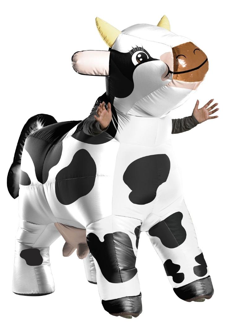 インフレータブル カウ 牛 コスチューム 3点セット 大人用 ハロウィン 仮装