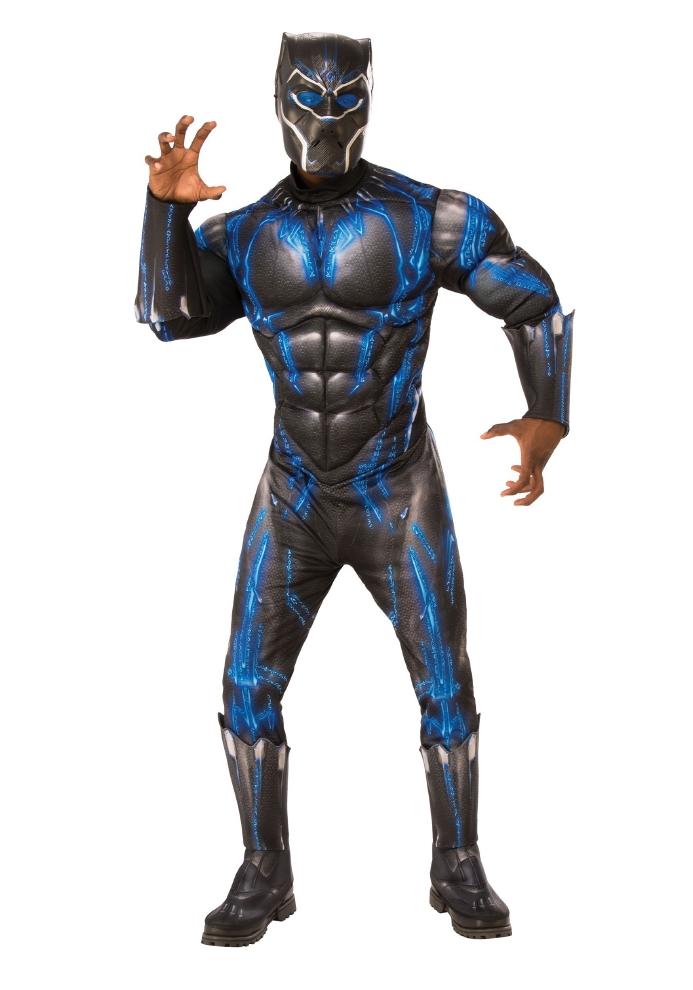 ブラックパンサー ブルーデラックス コスチューム 大人用 2点セットコスプレ衣装 (二次会、結婚式、仮装、パーティー、宴会、ハロウィン) 大人男性