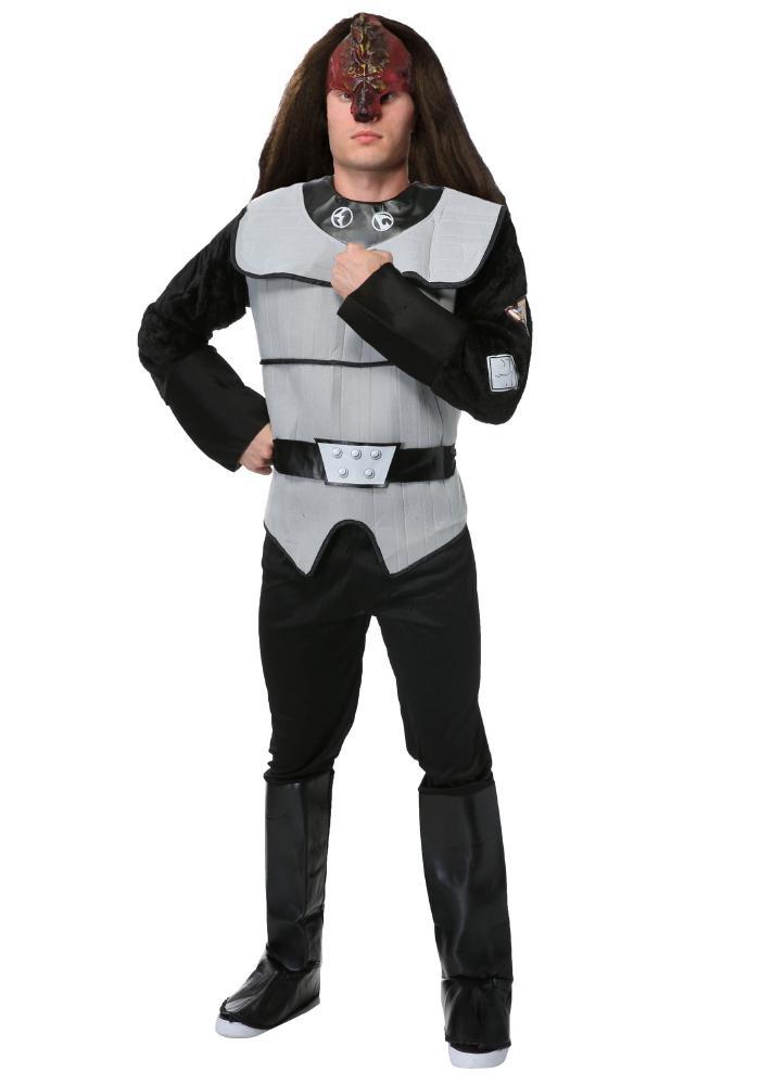 デラックス クリンゴン メンズコスチューム4点セット 男性用 コスプレ衣装 (二次会、仮装、パーティー、ハロウィン)大人男性用