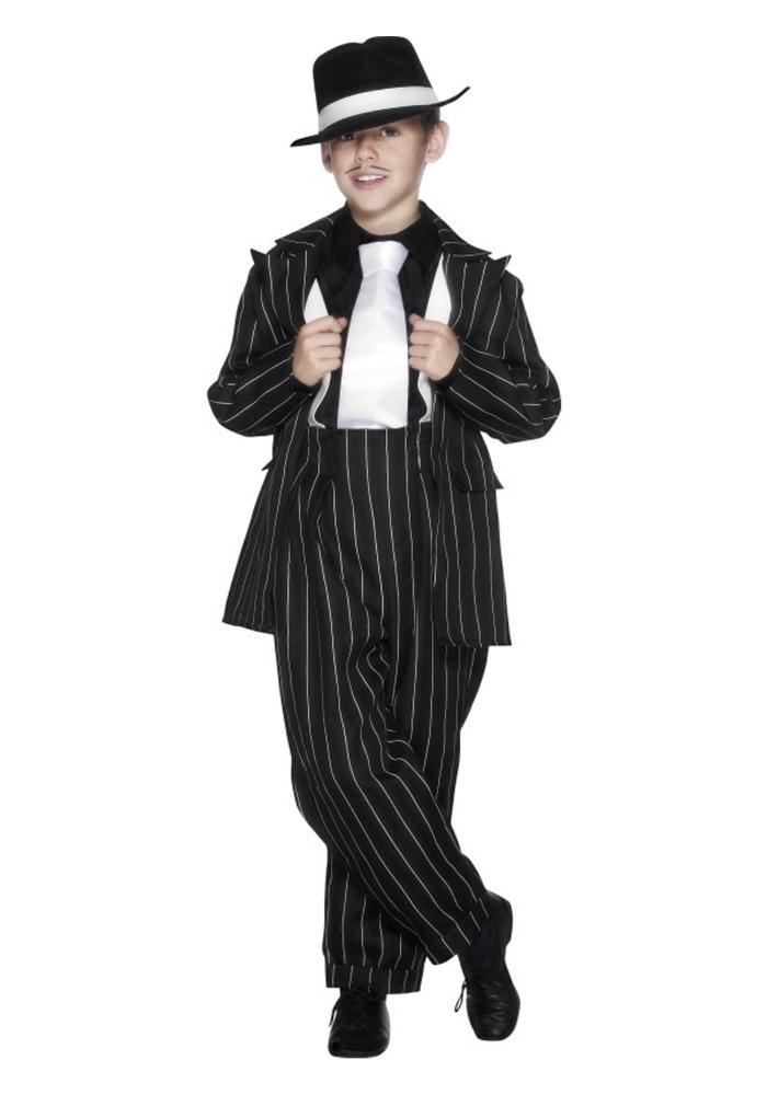 ズートスーツ ボーイズコスチューム 2点セット 子供用 コスプレ衣装 (仮装、ハロウィン)