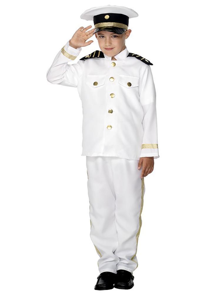 キャプテン ボーイズコスチューム 3点セット 子供用 コスプレ衣装 (仮装、ハロウィン)