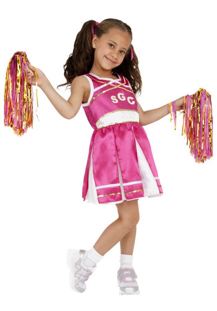 チアリーダー ガールズコスチューム 2点セット 子供用 コスプレ衣装 (仮装、ハロウィン)