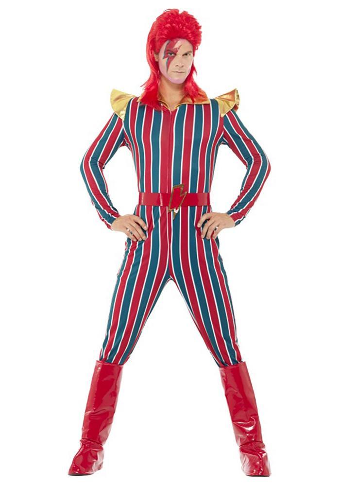 ハロウィンコスチューム 80's スペーススーパースター メンズコスチューム 3点セット 男性用 コスプレ衣装 大人男性用 パーティー 仮装 二次会 高い素材 激安 ハロウィン