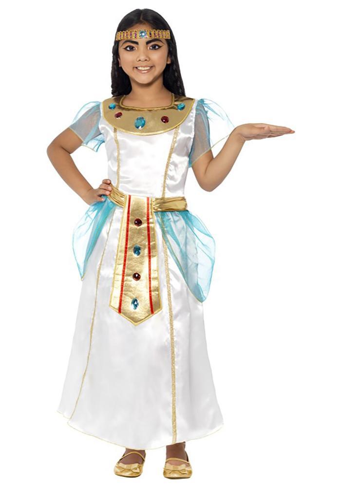 クレオパトラ ガールズコスチューム 2点セット 子供用 コスプレ衣装 (仮装、ハロウィン)