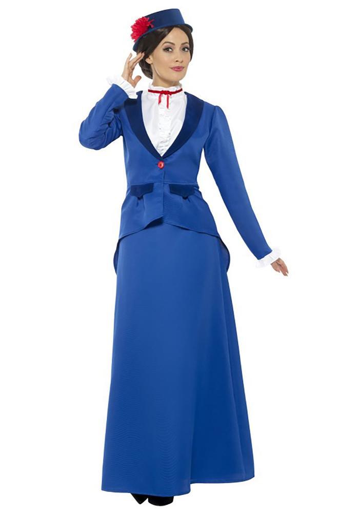 シンギング ナニー レディースコスチューム 4点セット 女性用 コスプレ衣装 (二次会、仮装、パーティー、ハロウィン)大人女性用