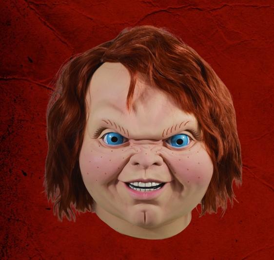 チャイルド・プレイ 2 EVIL CHUCKY悪魔のチャッキーマスク 公式ライセンスコスプレ衣装 (二次会、仮装、パーティー、ハロウィン)大人男性用