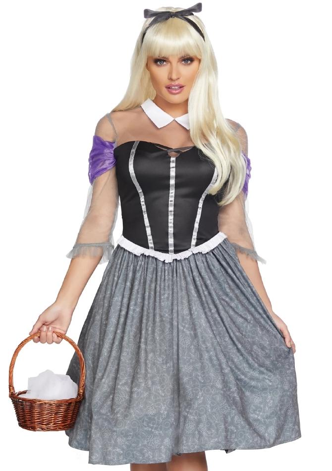ペザントスリーピングプリンセス 農家の眠り姫 レディース用 ハロウィンコスチューム 2点セット 仮装