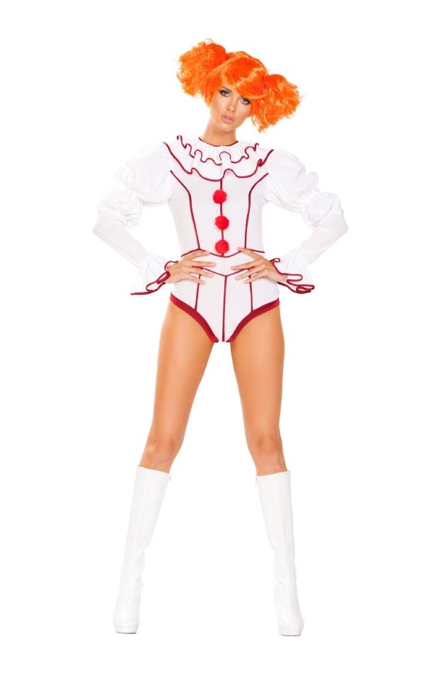 イヴィル クラウン 悪のピエロ 2点セット ハロウィン コスチューム 仮装 大人女性レディース