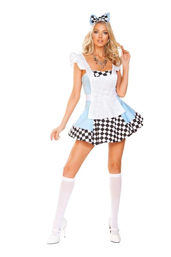 ワンダーアドベンチャー アリス 3点セット ハロウィン コスチューム 仮装 大人女性レディース