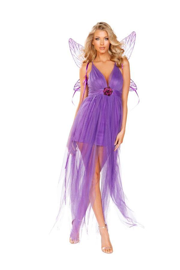 ライラックフェアリー 妖精2点セット ハロウィン コスチューム 仮装 大人女性レディース