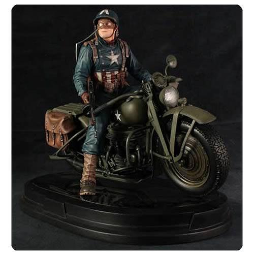 【予約】12月以降発売予定 バイクに乗ったキャプテンアメリカのスタチュー /GGジェントルジャイアント