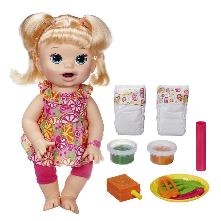 ベイビーアライブ スーパースナックスナッキン サラ・ブロンド 赤ちゃん ベビードール 人形 かわいい リアル Hasbroハズブロ