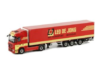 Leo de Jong メルセデスアクトロス Mega Space リーファートレーラー Thermoking 3軸 /WSIダブリューエスアイ 1/50   10151