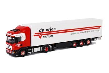 De Vries Hallum SCANIAスカニア R Highline ボックストレーラー 3軸 /WSIダブリューエスアイ 1/50   9440