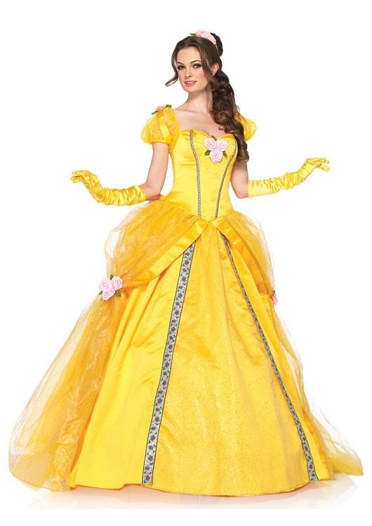 美女と野獣 デラックス ベル ディズニーコスチューム コスプレ衣装 (二次会、結婚式、仮装、パーティー、宴会、ハロウィン) 女性 大人用