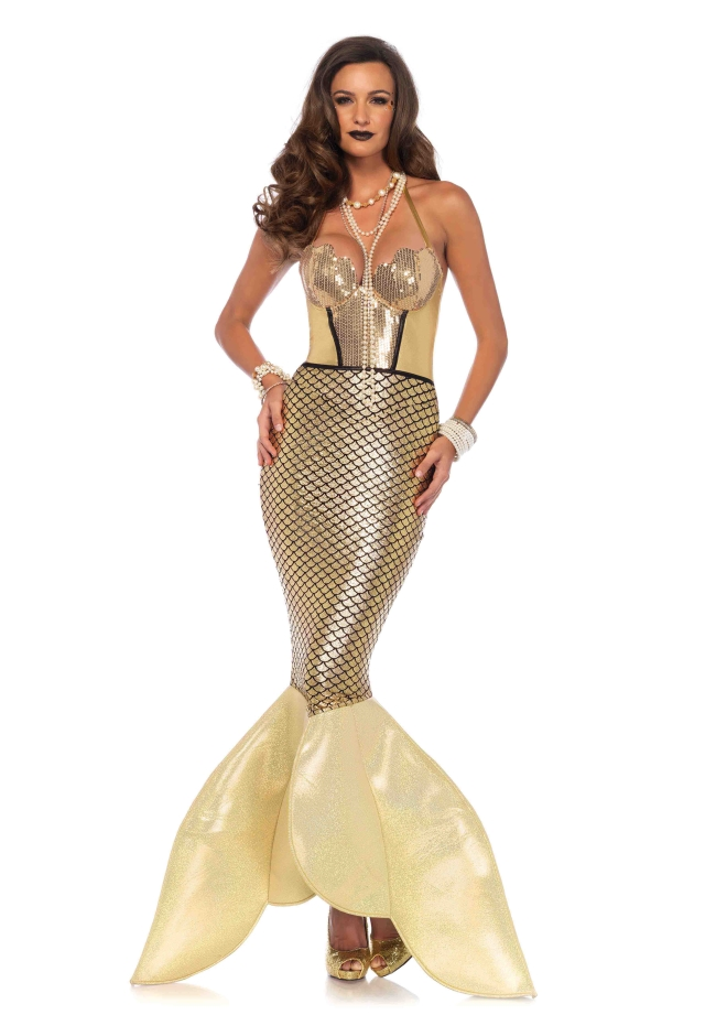 金色に輝く人魚姫のコスチューム 仮装コスチューム コスプレ /LEG AVENUEレッグアベニュー コスプレ・仮装・ハロウィン・女性大人用