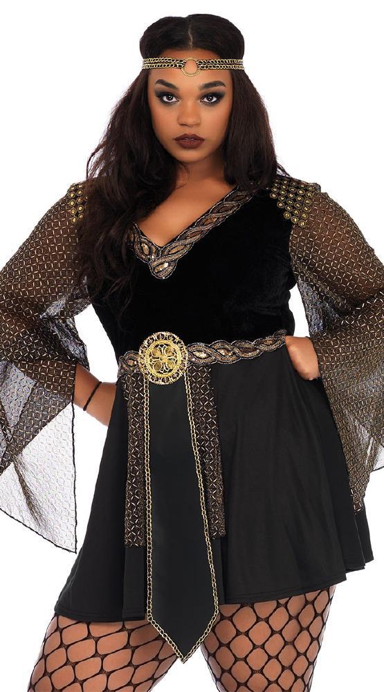 大きいサイズ グラマゾンウォーリアー ハロウィンコスチューム 2点セットLegAvenueレッグアベニュー 女性用 コスプレ衣装 (二次会、仮装、パーティー、ハロウィン)大人女性用