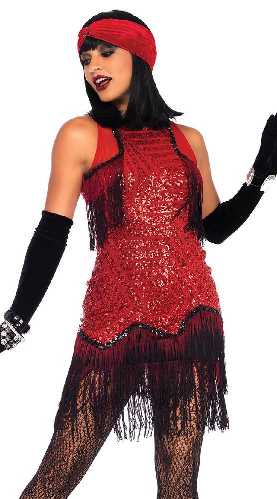スパークリング ギャツビーガール ハロウィンコスチューム 2点セットLegAvenueレッグアベニュー 女性用 コスプレ衣装 (二次会、仮装、パーティー、ハロウィン)大人女性用