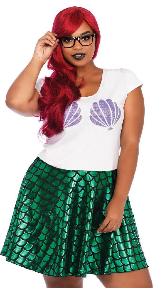 大きいサイズ ヒップスターマーメイド ハロウィンコスチューム 3点セットLegAvenueレッグアベニュー 女性用 コスプレ衣装 (二次会、仮装、パーティー、ハロウィン)大人女性用