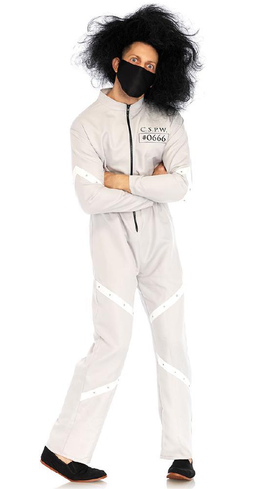 メンズ メンタルペイシェント ハロウィンコスチューム 2点セットLegAvenueレッグアベニュー 男性用 コスプレ衣装 (二次会、仮装、パーティー、ハロウィン)大人男性用