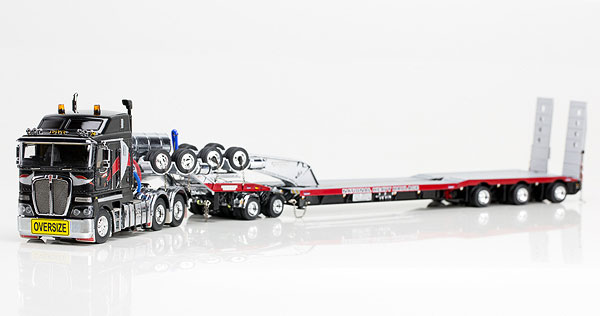 National Heavy Haulage - Kenworth K200 Prime Mover with Drake 2x8 Dolly and 3x8 Swingwing Trailer トラック トレーラー /DRAKE 建設機械模型 工事車両 1/50 ミニチュア