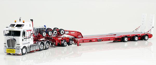 Higgs Heavy Haulage - Kenworth K200 Prime Mover with Drake 2x8 Dolly and 3x8 Swingwing Trailer トラック トレーラー /DRAKE 建設機械模型 工事車両 1/50 ミニチュア