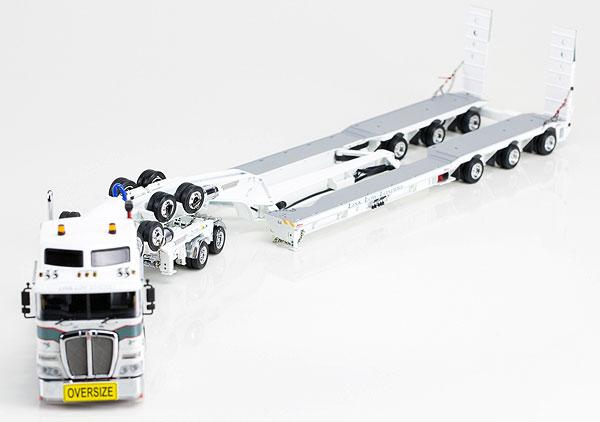 Link Low Loaders - Kenworth K200 Prime Mover with Drake 2x8 Dolly and 3x8 Swingwing Trailer トラック トレーラー /DRAKE 建設機械模型 工事車両 1/50 ミニチュア