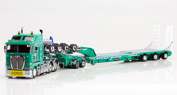 Metcalf Crane Services - Kenworth K200 Prime Mover with Drake 2x8 Dolly and 3x8 Swingwing Trailer トラック トレーラー /DRAKE 建設機械模型 工事車両 1/50 ミニチュア