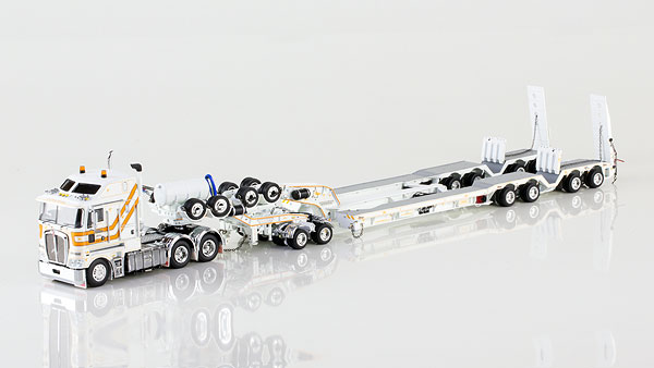 CQ Group - Kenworth K200 with Drake 4x8 Dragline Bucket Trailer and 2x8 Dolly トラック トレーラー /DRAKE 建設機械模型 工事車両 1/50 ミニチュア