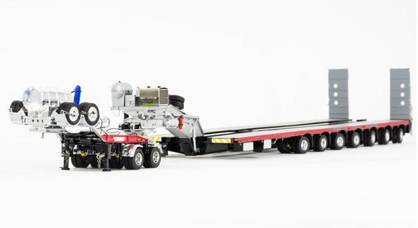 NHH - Drake 2x8 Dolly and 7x8 Steerable Low Loader Trailer トレーラー /DRAKE 建設機械模型 工事車両 1/50 ミニチュア