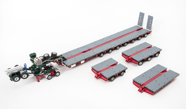 Membrey - Drake 2x8 Dolly and 7x8 Steerable Low Loader Trailer PLUS Accessory Pack: 2x8 Deck, 3x8 Deck and Drop in Deck Section トレーラーアクセサリーセット /DRAKE 建設機械模型 工事車両 1/50 ミニチュア