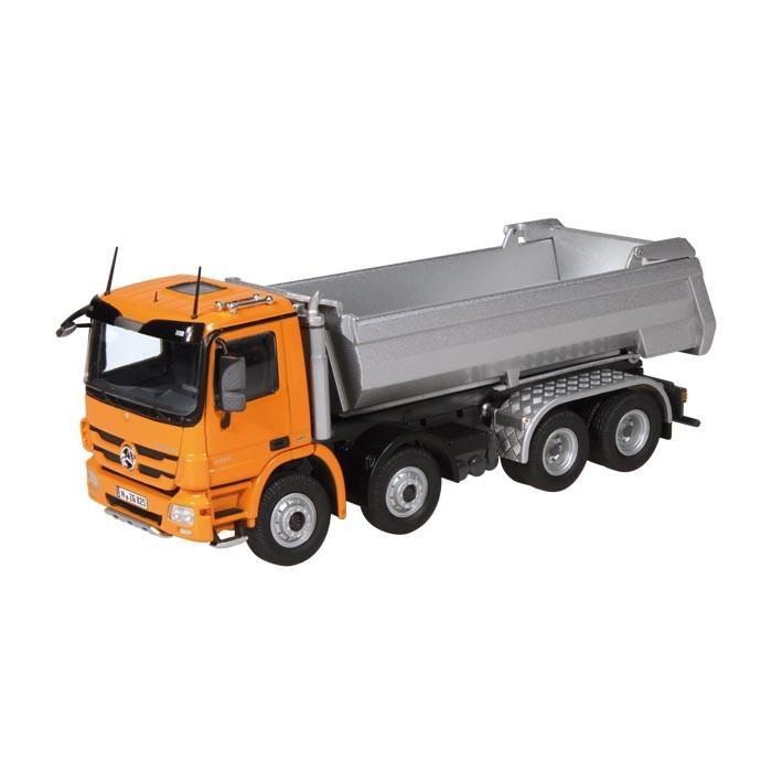 メルセデスベンツアクトロス 8X4 ハーフパイプ トラック ダンプ /NZG 1/50 建設機械模型