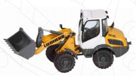 【予約】2013年発売予定LIEBHERRリープヘル L 506 compact, ホイールローダー /NZG 1/50 建設機械模型