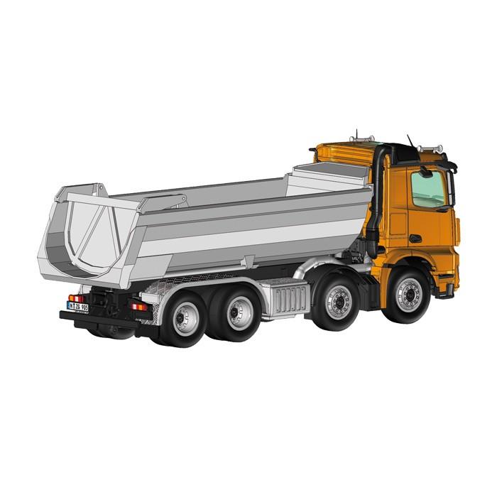 【予約】2014年発売予定メルセデスベンツアクトロス 8X4 HALFPIPE TIPPER ダンプトラック orange /NZG 1/50 建設機械模型 ミニカー