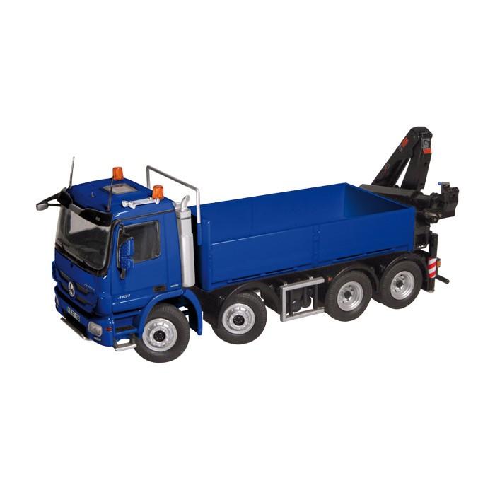【予約】2014年発売予定メルセデスベンツアクトロス 8X4PLATFORM WITH CRANE トラック クレーン blue /NZG 1/50 建設機械模型 ミニカー