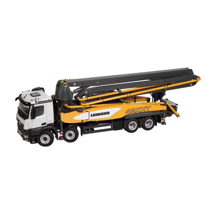 LIEBHERRリープヘル THP 140H 43 R4 XXT メルセデスベンツアクトロス 8X4 truck mounted コンクリートポンプ車 トラック /NZG 建設機械模型 工事車両 1/50 ミニチュア