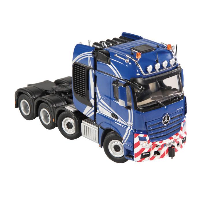 【予約】メルセデスベンツアクトロス Giga Space SL T Blue /NZG 建設機械模型 工事車両 1/50 ミニチュア